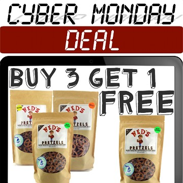 BUY 3 GET 1 FREE CYBER MONDAY DEAL